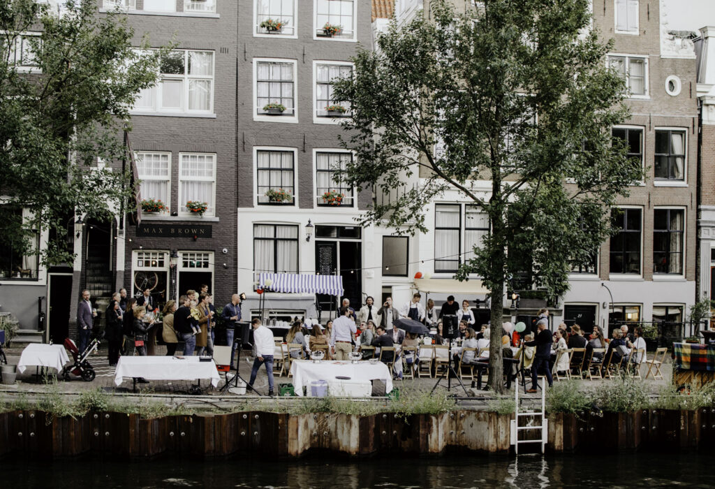 A Neighbourhood Pizza Party at Amsterdam's Canal District